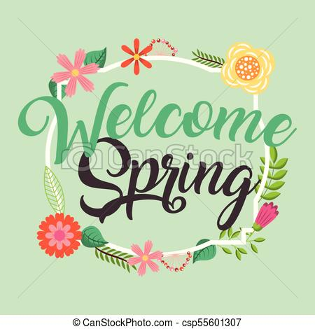 Welcome spring Vector Clipart Royalty Free. 1,992 Welcome spring.