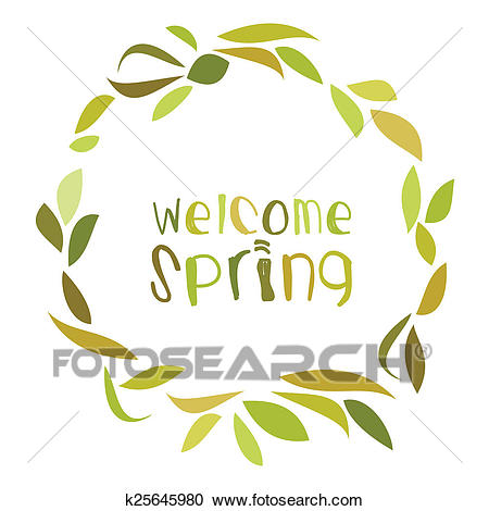 Welcome Spring Clipart.