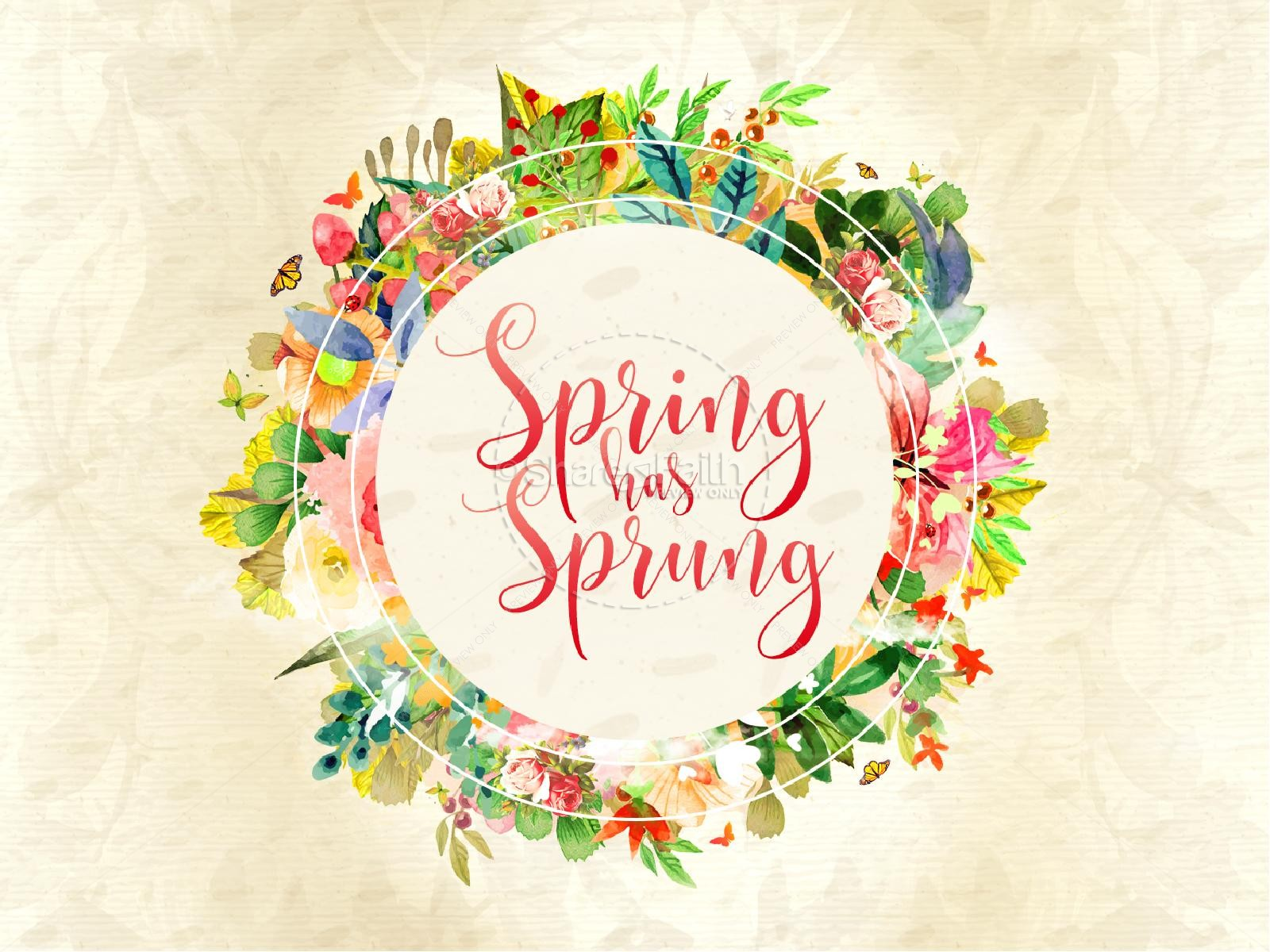 Spring Has Sprung Church Motion Graphic.