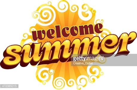 Welcome Summer Heading C premium clipart.