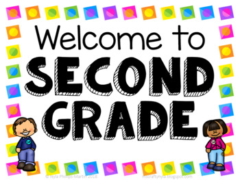 Second Grade Welcome Signs.
