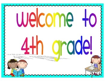 Welcome To 4th Grade Clipart.