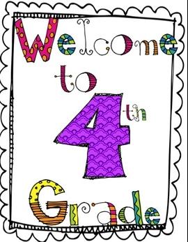 Fourth grade school clipart.