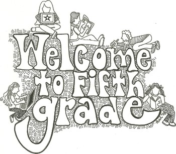 Welcome To 5th Grade Sign Worksheets & Teaching Resources.