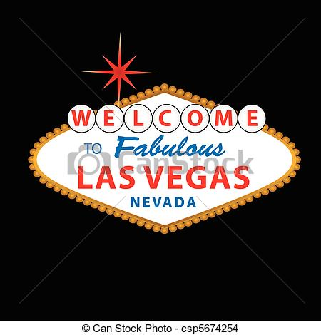 EPS Vector of Welcome to Las Vegas Sign.