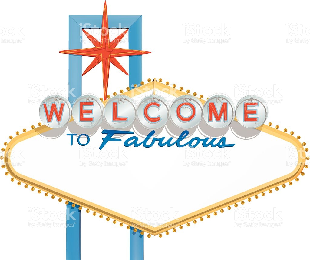 Welcome To Fabulous Las Vegas Sign Clip Art, Vector Images.
