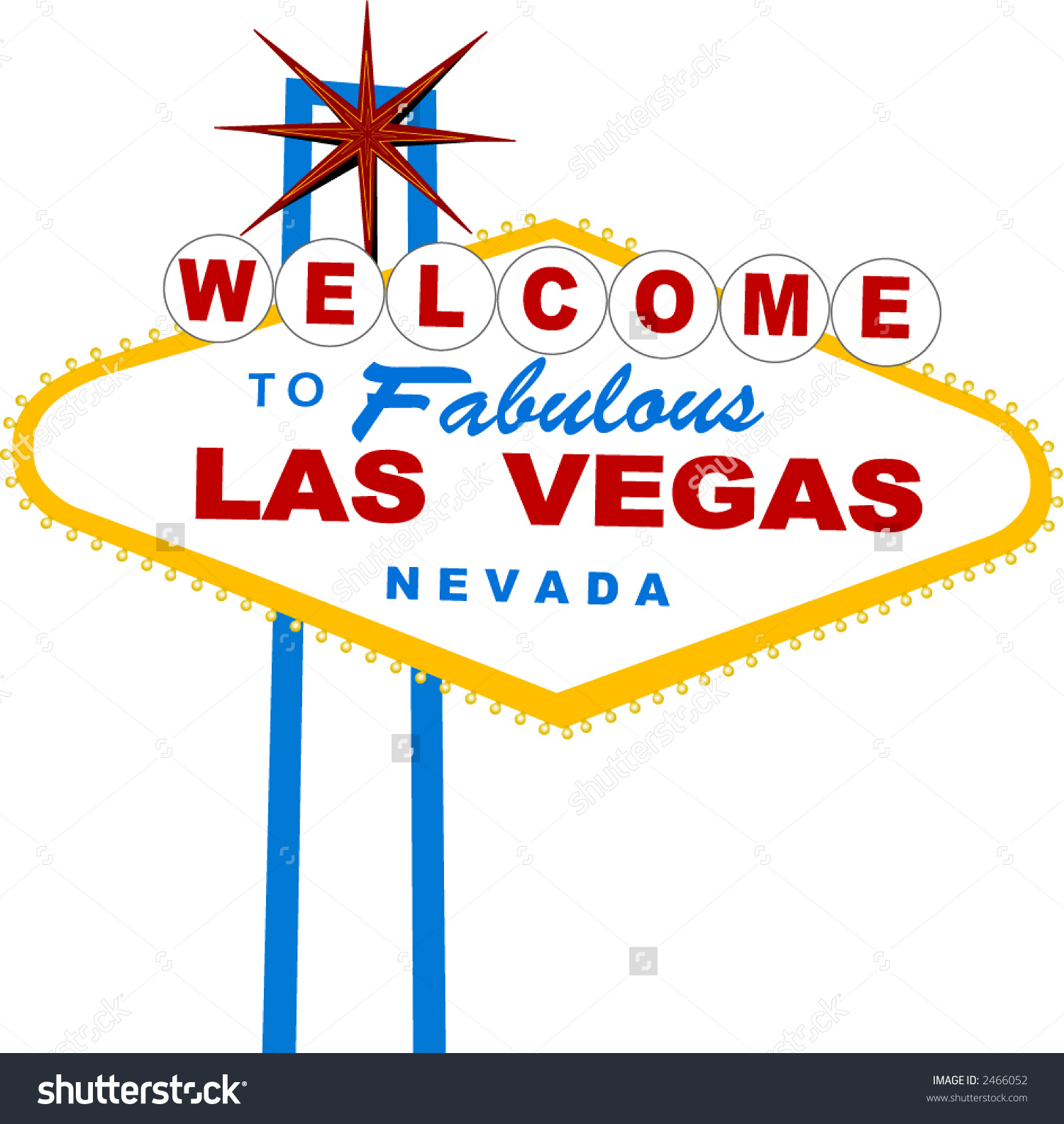 Welcome Fabulous Las Vegas Vector Series Stock Vector 2466052.