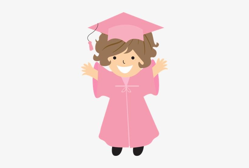 Graduation Clipart Pink PNG Image.