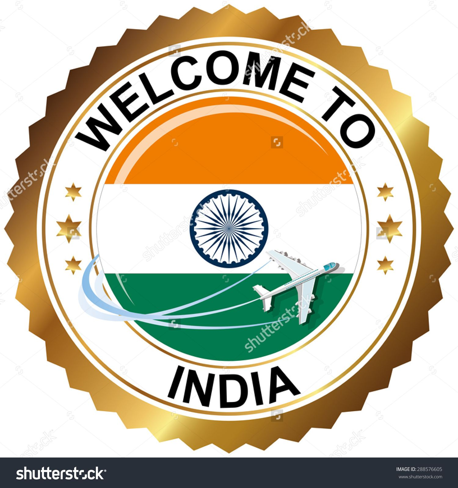 Welcome To India Stock Vector Illustration 288576605.