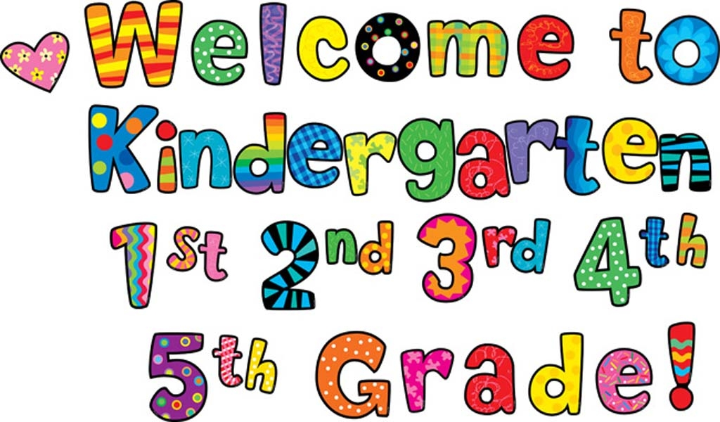 Welcome To Kindergarten Clipart Black And White.