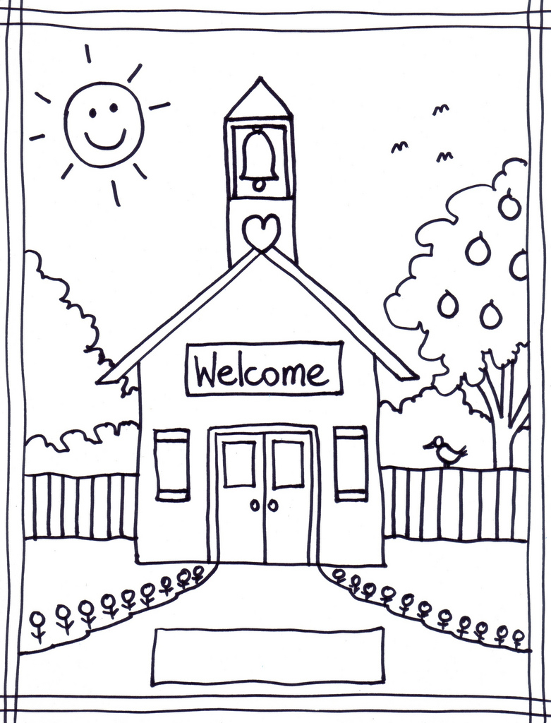 BACK TO SCHOOL COLORING PAGE~ {FREEBIE}.