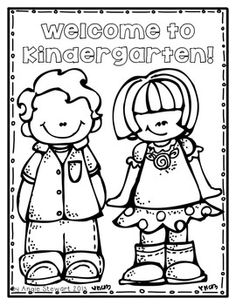 FREE} Welcome to School Coloring Pages for Back to School.