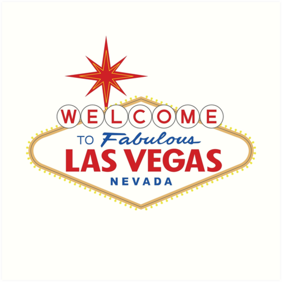 'Welcome to Fabulous Las Vegas Sign' Art Print by worldofsigns.