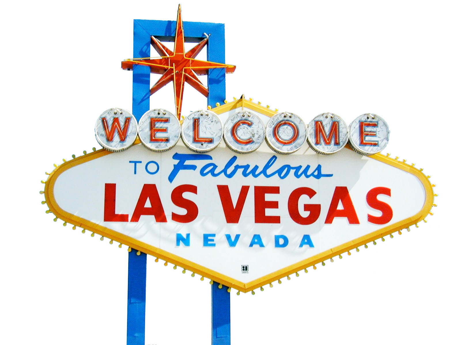 Welcome LasVegas Sign PNG Image.