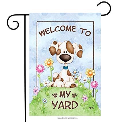 Amazon.com : Brownrio My Yard Spring Garden Flag Welcome.