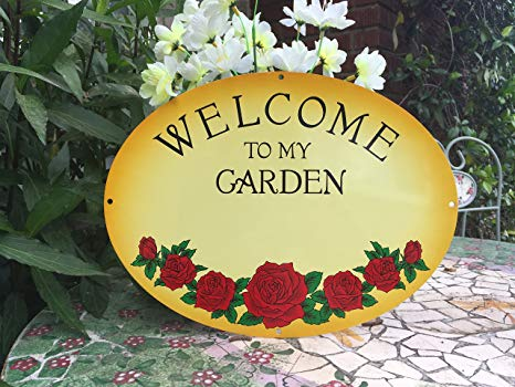 Amazon.com : Welcome to My Garden Wall Art by GIFT PLAQUES.