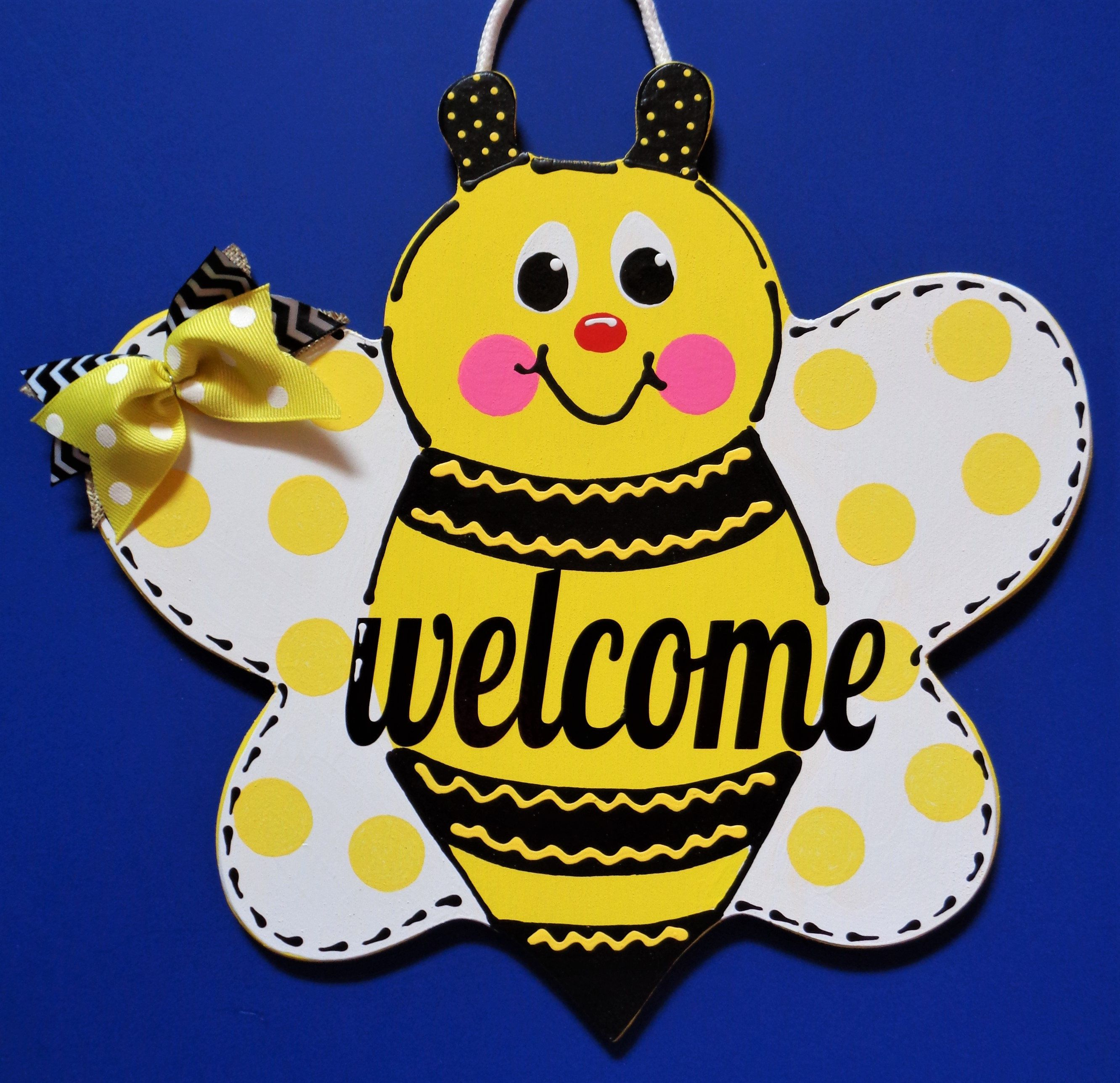 BUMBLEBEE WELCOME SIGN Pool Deck Patio Porch Door Wall Art.