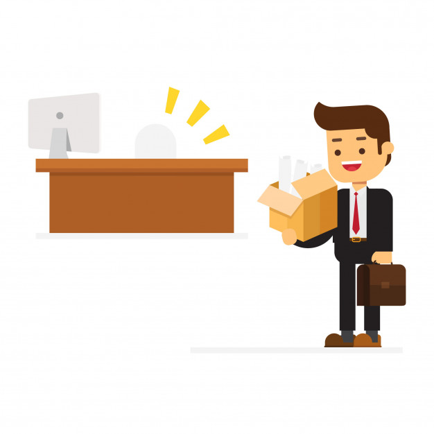 Happy businessman welcome to new jobs Vector.
