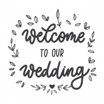 Welcome Our Wedding Vectors, Photos and PSD files.