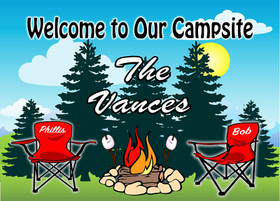 Camping Sign.