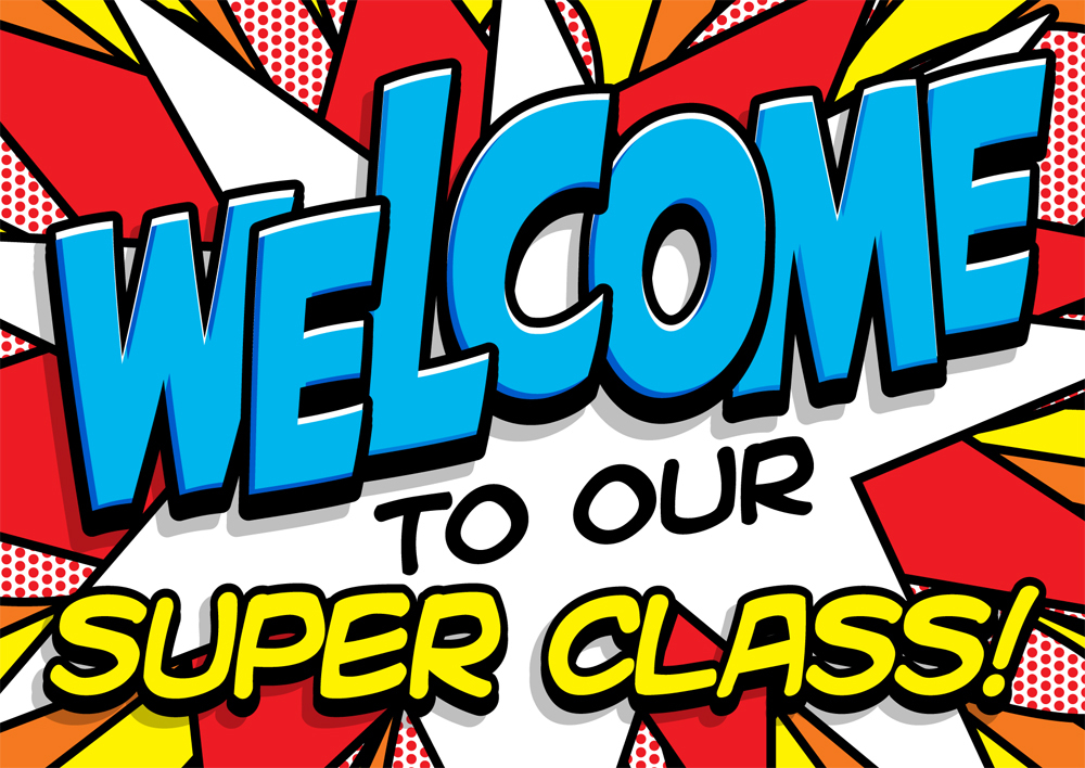 Welcome to Our Super Class (Postcard).