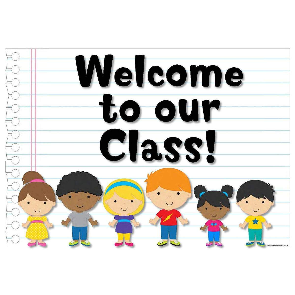 Classroom Kids Welcome Sign.