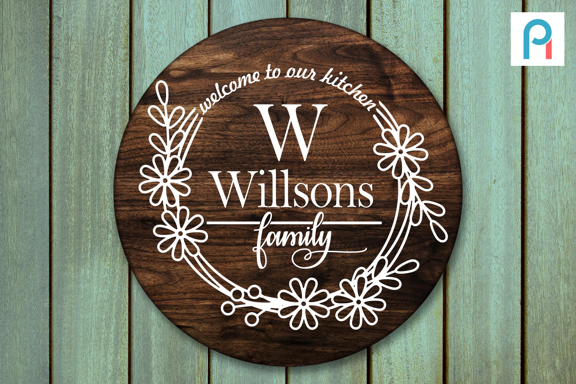 Welcome to Our Kitchen Svg, Kitchen Svg, Kitchen Clip Art By.