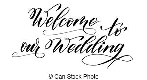 Welcome to our wedding Vector Clipart Royalty Free. 30.