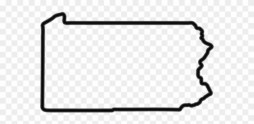 Pennsylvania Black And White Clipart (#3841032).