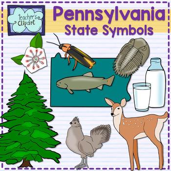 Pennsylvania state symbols clipart.