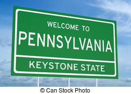 Welcome to pennsylvania state road sign Illustrations and.