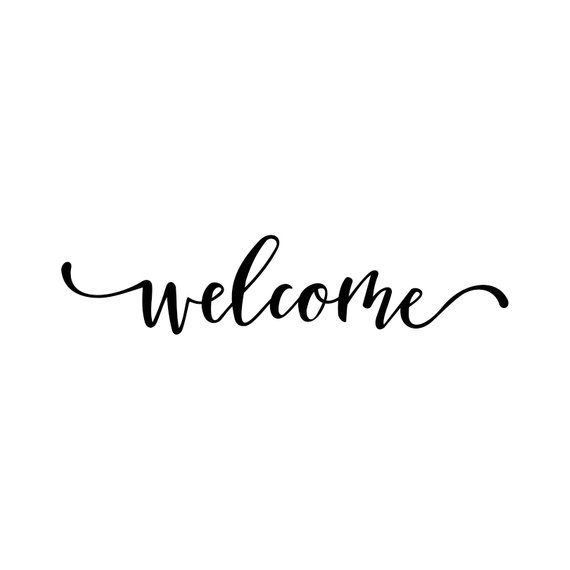Welcome Word Phrase Graphics SVG Dxf EPS Png Cdr Ai Pdf Vector Art.