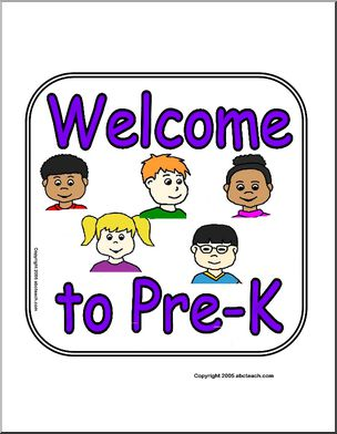 Sign: Welcome to Pre.
