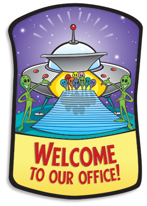 Space Aliens Welcome — Norris Hall Studio.