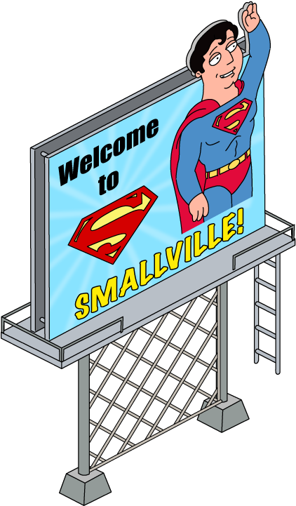 Welcome To Smallville Sign.