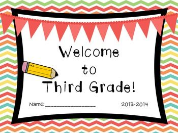 Welcome to Third Grade (Back to School Book).
