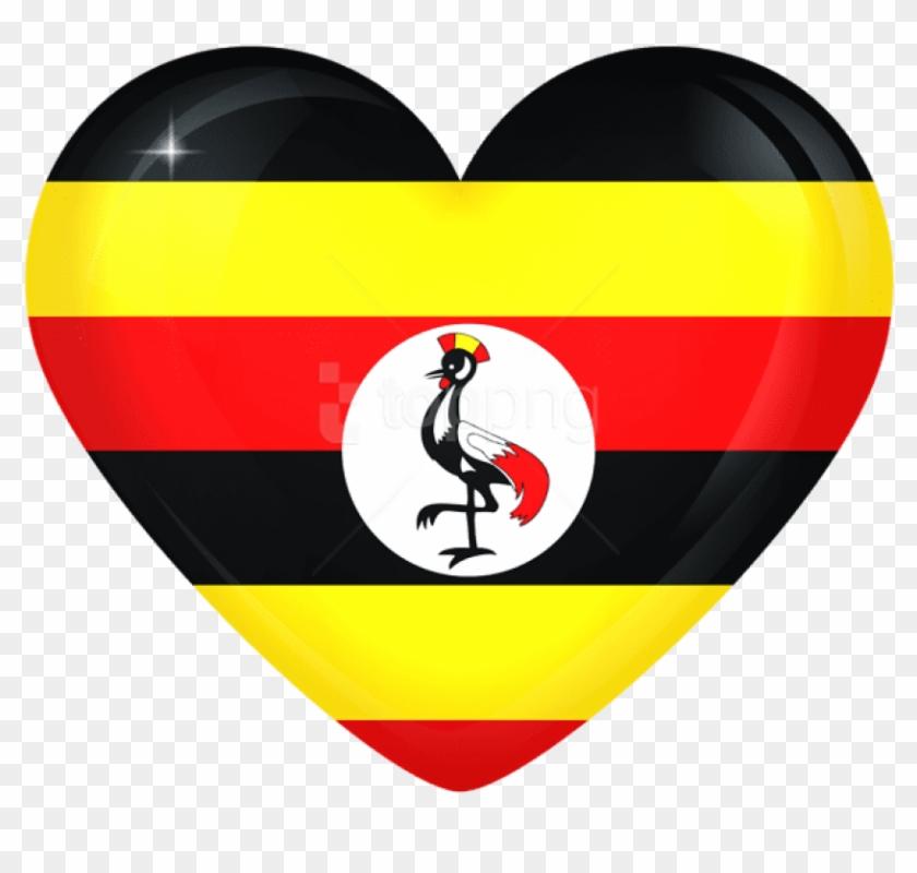 Free Png Download Uganda Large Heart Flag Clipart Png.