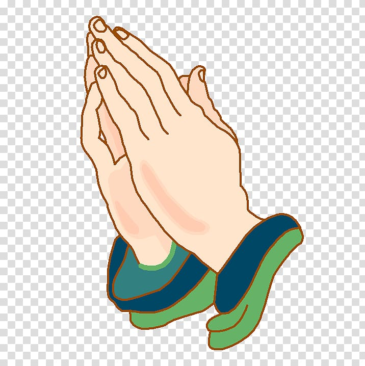 Human hands in prayer gesture illustration, Praying Hands.