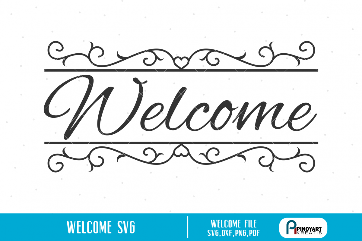 Welcome svg.