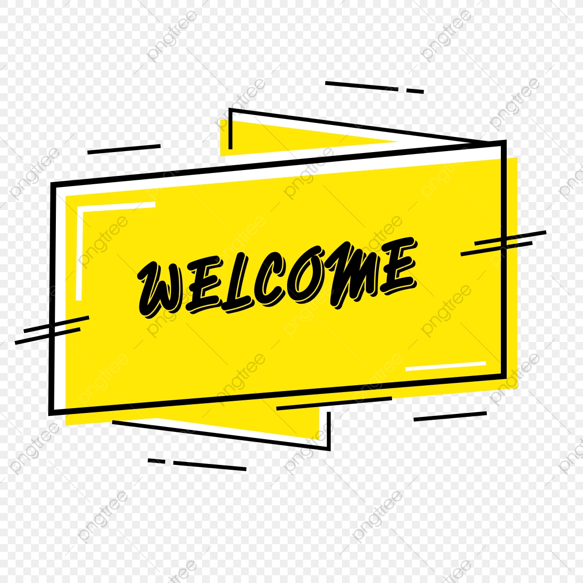 Yellow Banner Clipart The Welcome, Png, Art, Design PNG and Vector.