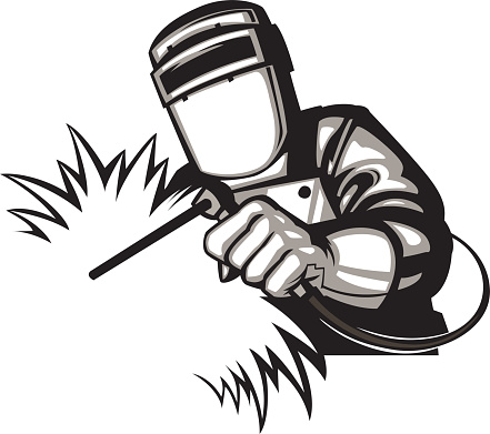 Welder clipart vector.