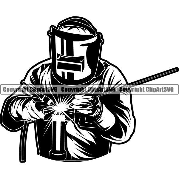 Welding Weld Welder Forge Metal Blacksmith ClipArt SVG.
