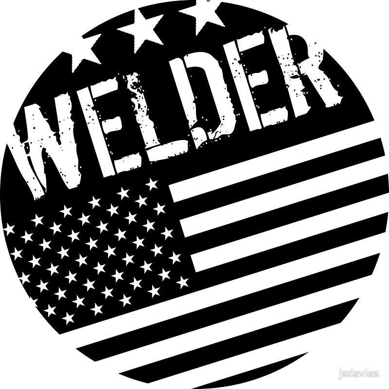 Welder: Black Flag (Circle)\' Sticker by MilitaryCandA.