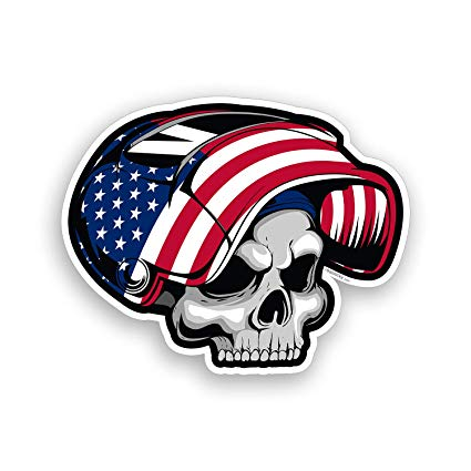 USA American Flag Welder Skull Sticker Hard Hat Toolbox Decal Vinyl Car Cup  Cooler Window Bumper Graphic.