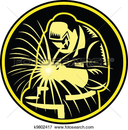 Clip Art of Military Welder k2114377.