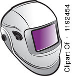 Pink Welding Helmet Clipart.