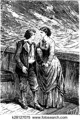 Clipart of Dick, my dear child, my captain! said Mrs. Weldon.