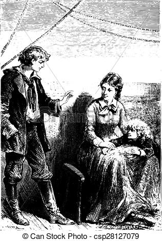Vectors Illustration of The novice always reassured Mrs. Weldon.