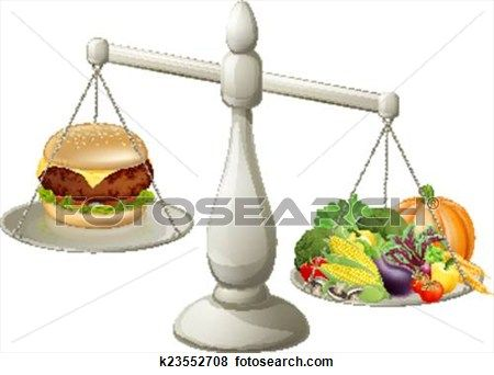 Healthy eating balanced diet Clip Art.