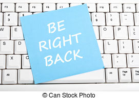 Back be right back Stock Photo Images. 135 Back be right.